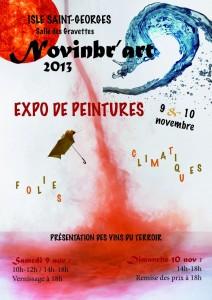 Affiche Novinbr'art 2013